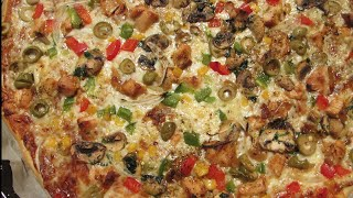 getlinkyoutube.com-الطريقة الناجحة لإعداد بيتزآ المطاعم اللذيذة بالدجاج خطواة مع الشرح سهلة للمبتدئين pizza Reine