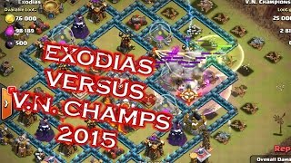 getlinkyoutube.com-Clash of clans clan wars between Exodias vs VN Champs 2015