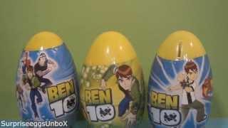 getlinkyoutube.com-BEN 10 Plastic Surprise Eggs Fake Surprise Eggs Unboxing and Toys