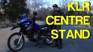getlinkyoutube.com-How To: Centrestand Install KLR