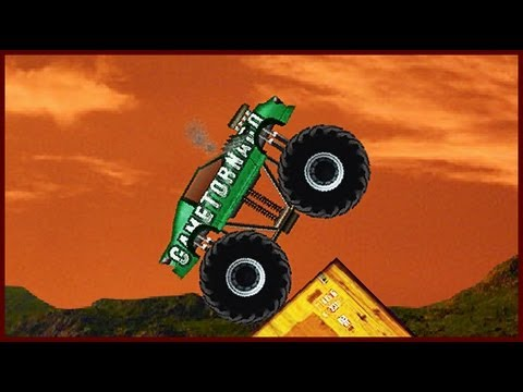 Monster Truck Demolisher - Flash Game Walkthrough 24 Levels