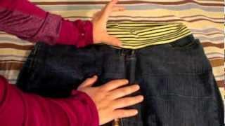getlinkyoutube.com-Como convertir un pantalón normal en un pantalón para el embarazo - La receta de la abuelita