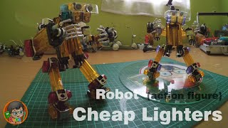 getlinkyoutube.com-How To Make A Robot  (Action Figure) Out Of Cheap Lighters - Step by Step