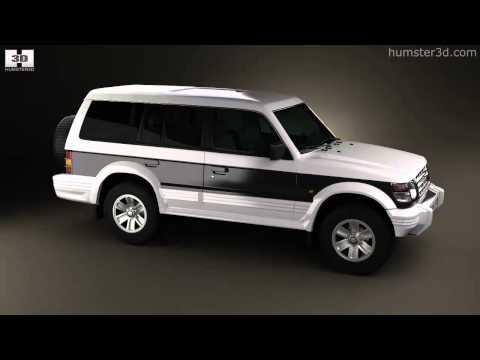 Mitsubishi Pajero (Montero) Wagon 1991 By 3D Model Store Humster3D.com