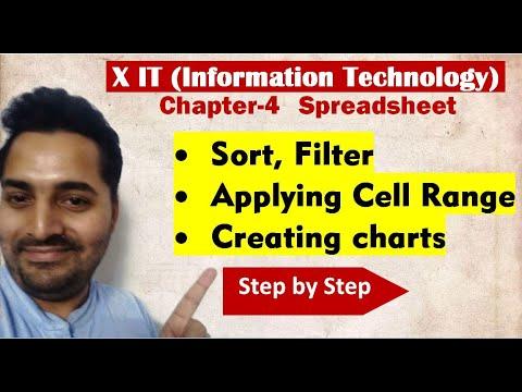 Class X | IT | # 2 | CBSE Board | Ch-4 Spreadsheet | Sort , Filter | Creating charts