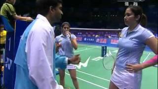 getlinkyoutube.com-[2011 Sudirman Cup WD] Wang Xiao Li/Yu Yang vs Jwala Gutta/Ashwini Ponnappa [3]