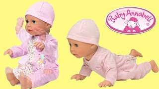 getlinkyoutube.com-Baby Annabell Learns to Walk Baby Doll like a Real baby Little girl play with doll