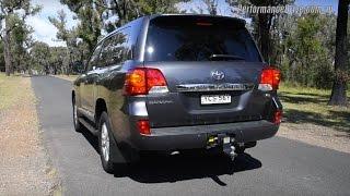 getlinkyoutube.com-2015 Toyota LandCruiser Sahara diesel V8 0-100km/h & engine sound