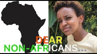 A MESSAGE TO NON-AFRICANS. xx