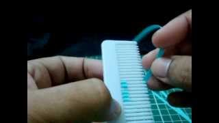 How to make the petal of a flower using hair comb