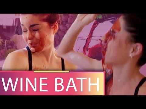 Taking a Bath in WINE?!  (Beauty Trippin)