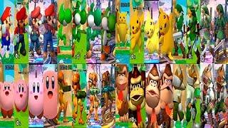 getlinkyoutube.com-Super Smash Bros Wii U | Evolución de los 8 personajes clásicos