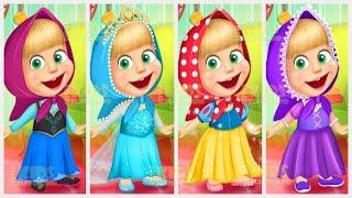 getlinkyoutube.com-Masha And The Bear Disney Princess Dress Up (Маша и Медведь) Games For Kids