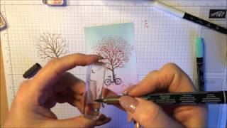 getlinkyoutube.com-Stampin' Up (Sheltering Tree) - Brayering Technique