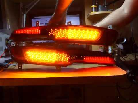 Kia sportage 3 доп фонари в задний бампер ГАБАРИТЫ+СТОП+БЕГУЩ ИЙ ПОВОРОТ.