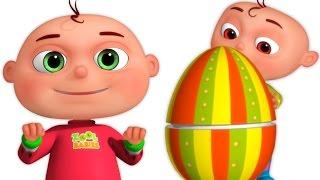 getlinkyoutube.com-Five Little Babies Opening Surprise Eggs Mashup | Zool Babies Fun Videos