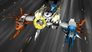 getlinkyoutube.com-Power Rangers Samurai - Samurai Battlewing Zord Debut Fight