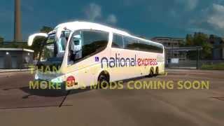 getlinkyoutube.com-Euro Truck Simulator 2- National Express Bus Skin- IRIZAR PB