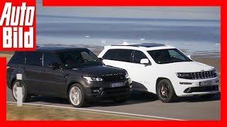 getlinkyoutube.com-Range Rover Sport vs. Jeep Grand Cherokee SRT8
