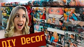 getlinkyoutube.com-DIY NERD DECOR | Reforma de móveis usados com quadrinhos