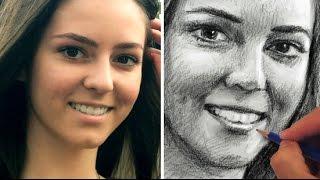 getlinkyoutube.com-How to Draw a Pretty Face - Portrait Sketch