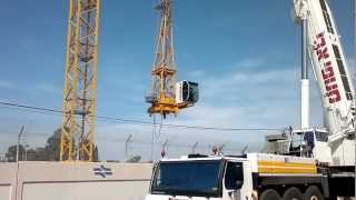 getlinkyoutube.com-Liebherr LTM-1500_8.1.  Avi cranes. Монтаж башенного крана.