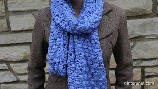 getlinkyoutube.com-How to crochet spider-leaf stitch scarf