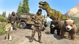 GTA 5 Mods - HUNTING RARE & EXOTIC ANIMALS IN GTA 5!! GTA 5 Hunting Mod! (GTA 5 Mods Gameplay)