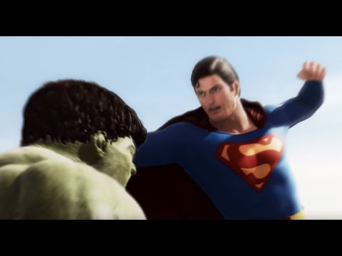 Superman vs Hulk - The Fight (Part 1)