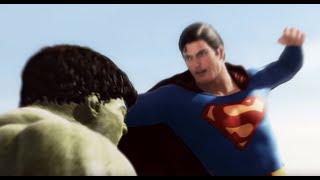 Superman vs Hulk - The Fight  (Part 1)