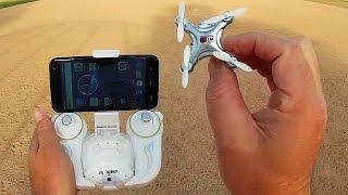 getlinkyoutube.com-Cheerson CX-10WD Altitude Hold FPV Nano Camera Drone Flight Test Review