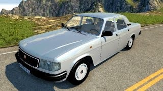 getlinkyoutube.com-BeamNG.Drive Mod : Volga GAZ-31029 (Crash test)