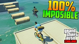 getlinkyoutube.com-100% IMPOSIBLE! TRONCOS FLOTANTES!!! - Gameplay GTA 5 Online Funny Moments (Carrera GTA V PS4)