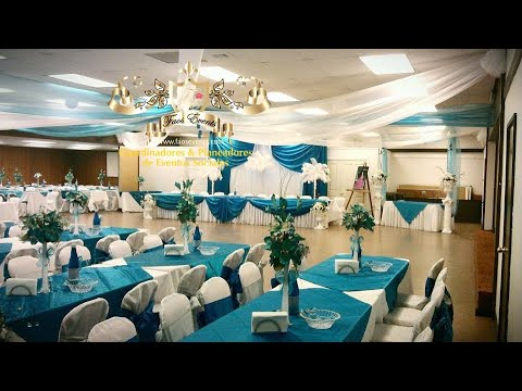 Faos Events decoracion turquesa y plata en longview washington
