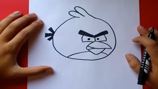 getlinkyoutube.com-Como dibujar el pajaro rojo paso a paso - Angry birds | How to draw the red bird - Angry birds