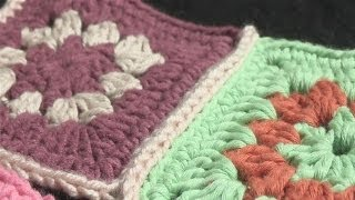 getlinkyoutube.com-How To Attach Pieces Of Crochet Together.