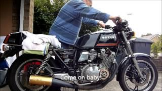 getlinkyoutube.com-Suzuki GS1100 G First Start After Carburetor Strip Down