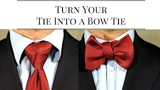 getlinkyoutube.com-How To Tie A Necktie Into A Bowtie