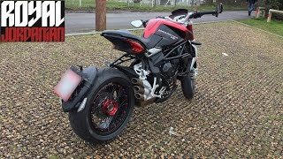 getlinkyoutube.com-MV Agusta Brutale Dragster 800 RR, walk around, start and short ride