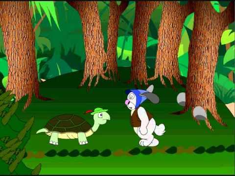 Flash movie Turtle & Rabbit race in hindi story