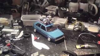 Volkswagen Golf mk.II HoodRide fujimi 1:24