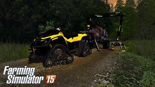 getlinkyoutube.com-Farming Simulator 15 - can-am 1000X apache track & Junkkari Patruuna 866