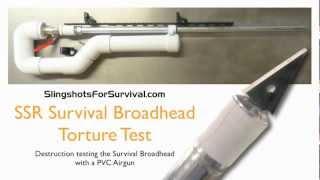 getlinkyoutube.com-SSR Survival Broadhead PVC Airgun Destruction Test