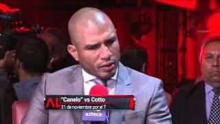 getlinkyoutube.com-Cara a cara Miguel Cotto y Saúl 'Canelo' Álvarez