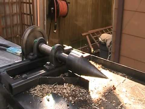 SCREW TYPE HOME MADE ELECTRIC  WOOD SPLITTER
