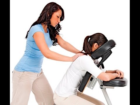 Chair massage event.