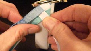 getlinkyoutube.com-HOW TO: Make A Diamond Style Ribbon Woven Headband by Just Add A Bow