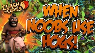 "getlinkyoutube.com-Clash of Clans: ""GoHog: Can He 3 Star?""   Epic Hog Rider TH10 Strategy"