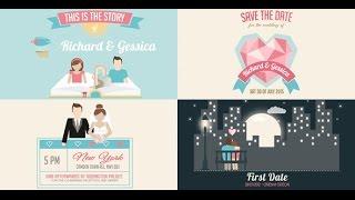getlinkyoutube.com-Video Wedding Invitation And Love Story Slideshow - After Effect Tempate