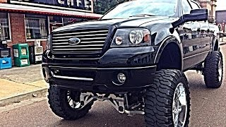 getlinkyoutube.com-AN IN DEPTH TOUR OF MY NEW LIFTED F150 ON 40S